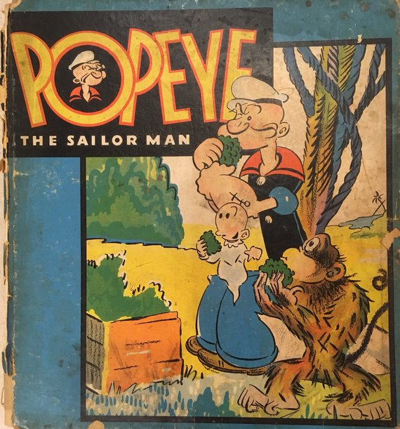 Popeye The Sailor Man - Vintage Book - 1937