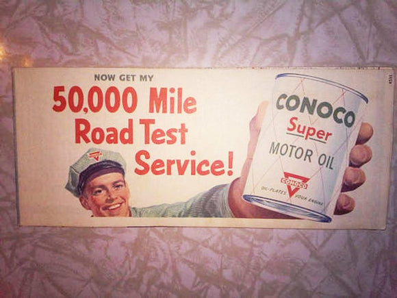 Vintage 1950's Road Map - Conoco Advertisement - Denver Colorado Springs and Vicinity - Petroliana Collector's Item!