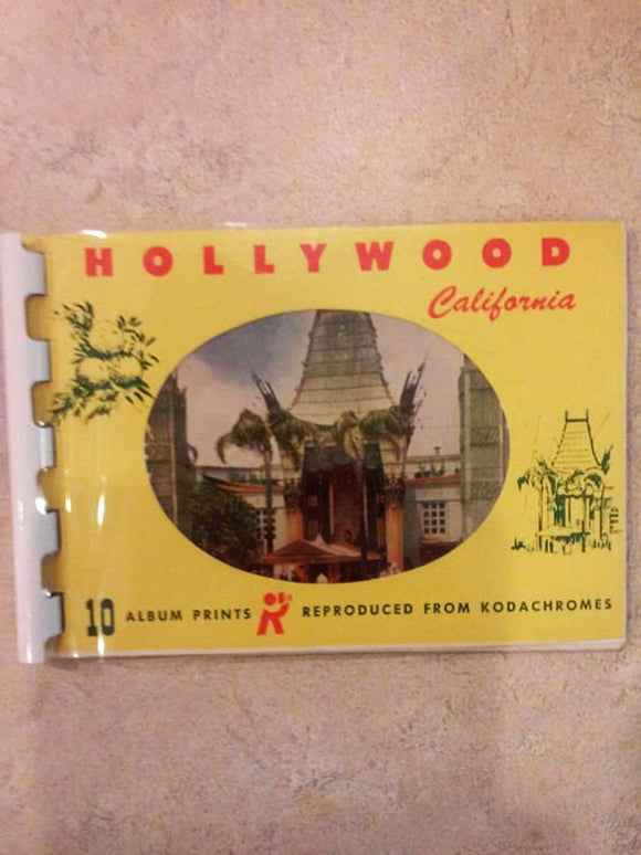 Hollywood California Mini Album Postcard Prints Booklet From 1950's -Vintage Hollywood Collectible- Album Prints Reproduced from Kodachromes