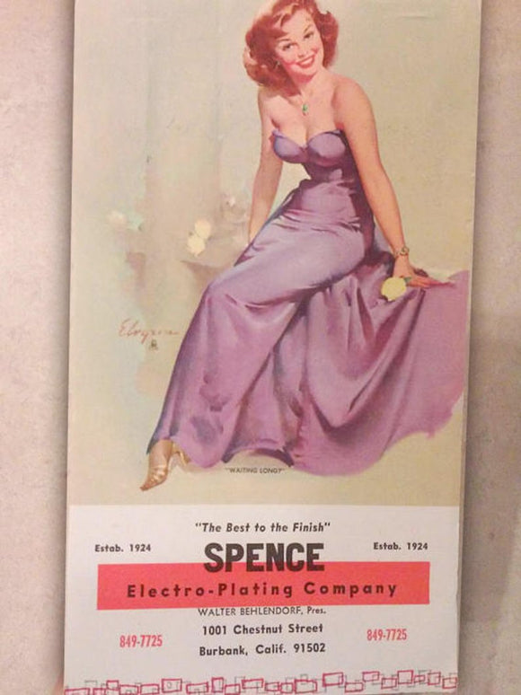 Vintage Pin-Up Girl - Paper Ephemera - Glamorous Theme - New Old Stock - Spence Electro-Plating Company Advertisement Note Pad -Sexy, Risque