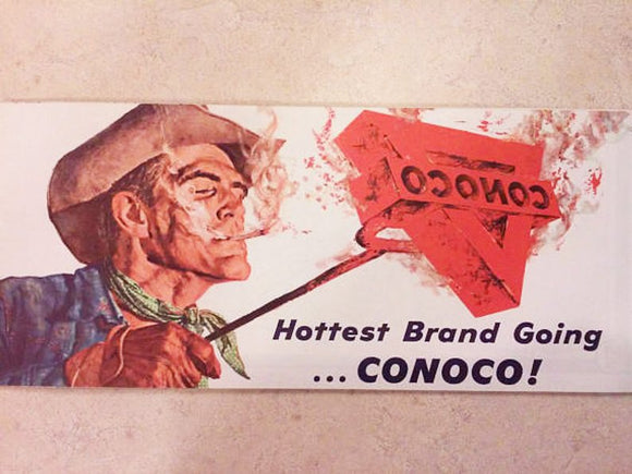 Vintage Map Conoco Brand Gas Map - New Orleans Petroliana - 1962 Conoco Map - Gas Station Collectible