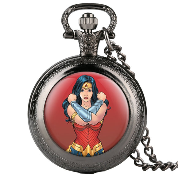 Wonder Woman Quartz Pocket Watch