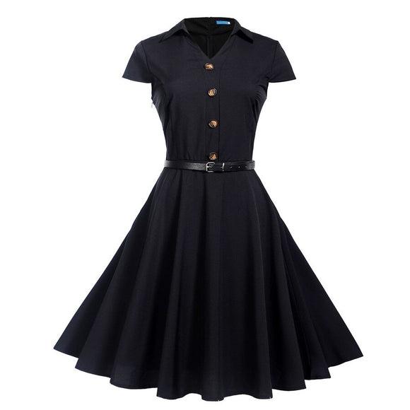 Reproduction Retro Dress - Casual Party Dress - Rockabilly 50's / 60's Vintage Style!