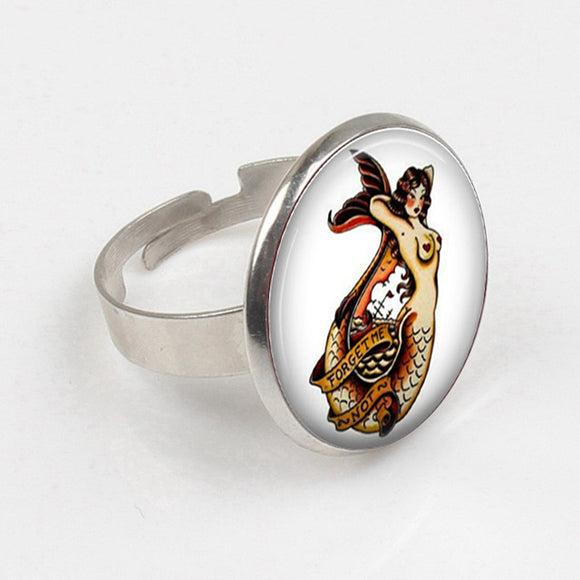 Mermaid Pinup Ring