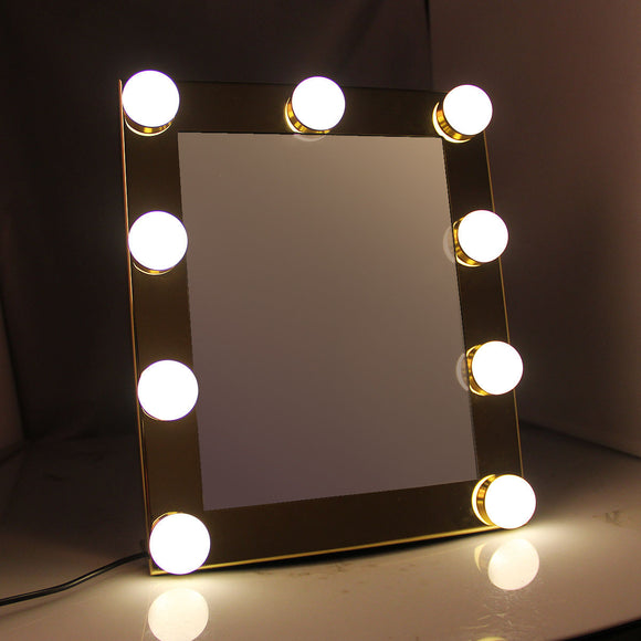 Hollywood LED Makeup Vanity Mirror With LED Lights  / Square Vintage Table Mirror