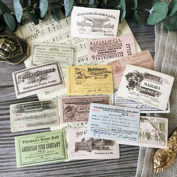 Retro Tickets Stickers for Crafting
