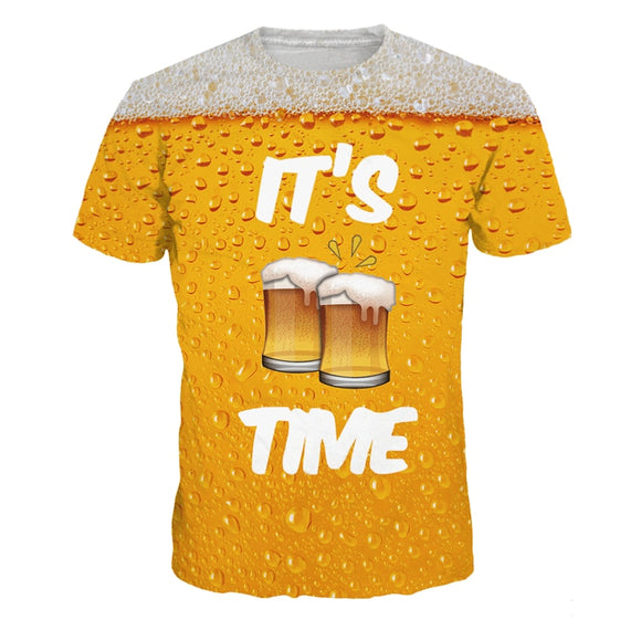 Its Beer Time 3D Compression Tee (FREE TEE OF THE DAY! JUST PAY A SMALL S&H FEE!!)