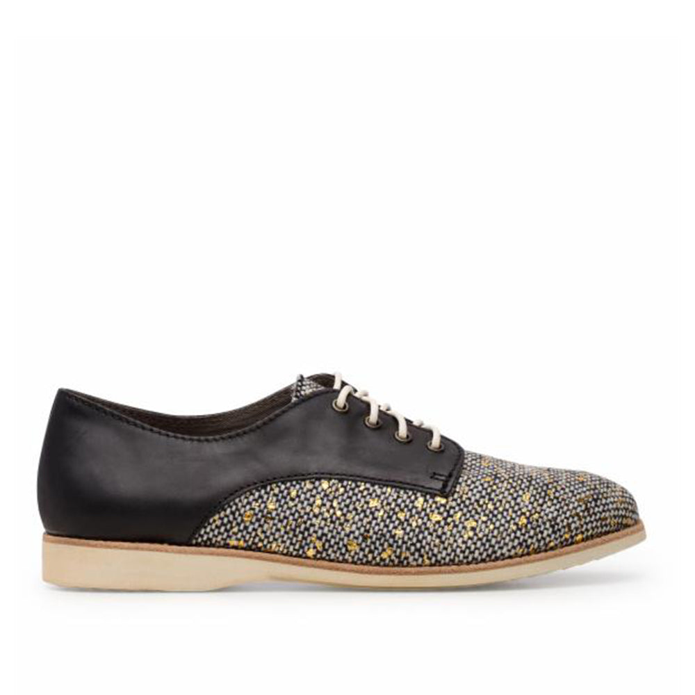 Rollie Derby Tweed/Black Shoes