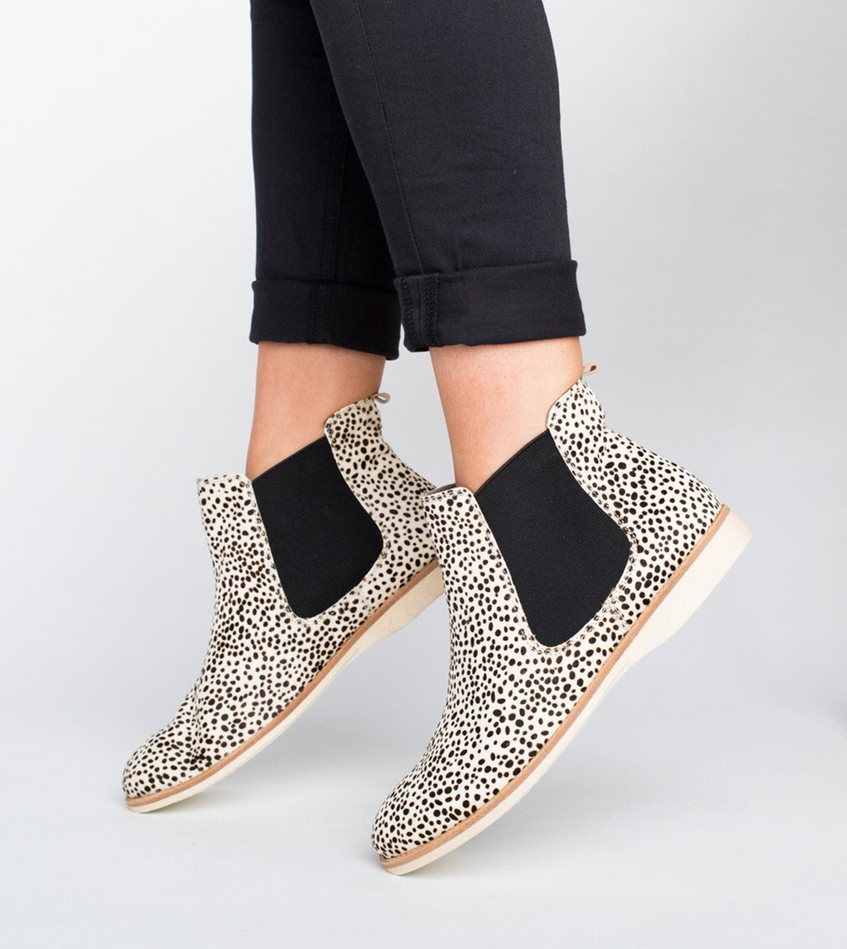 Rollie Chelsea Snow Leopard Shoes