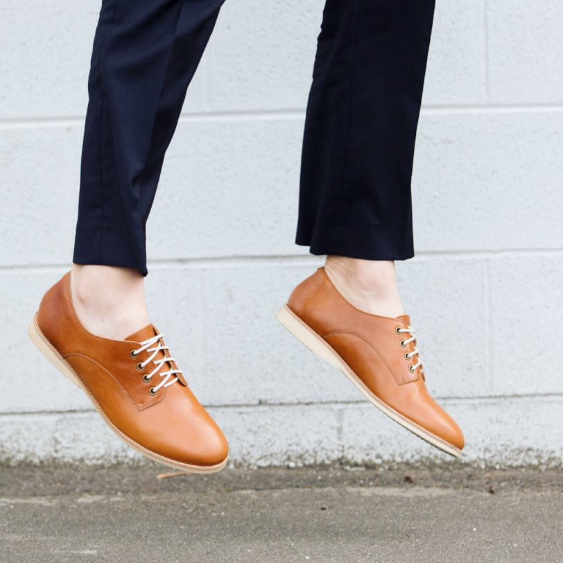 Rollie Derby Cognac Shoes