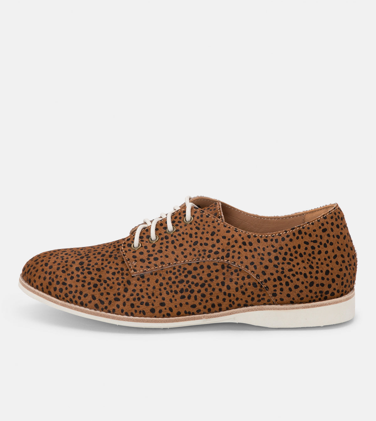 Rollie Derby Brown Snow Leopard Shoes