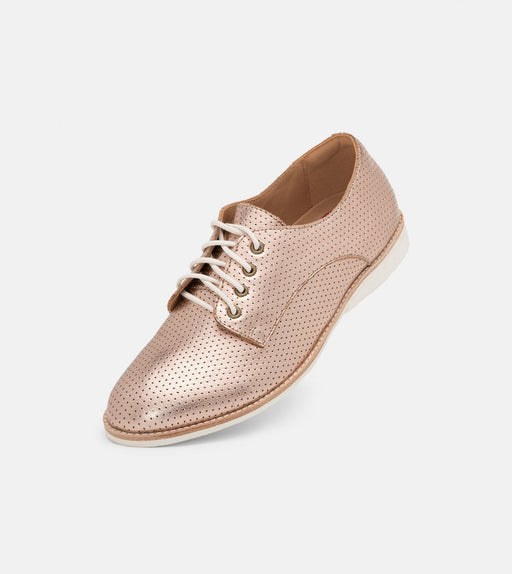 Rollie Derby Pin Punch Rose Gold Shoes