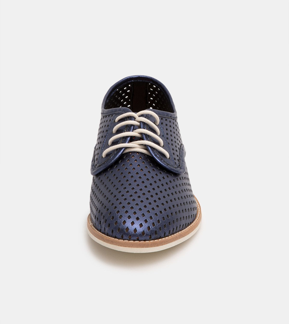 Rollie Derby Punch Navy Metallic Shoes