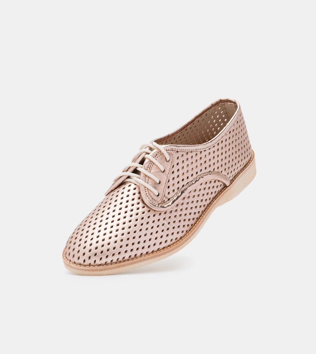 Rollie Derby Punch Rose Gold Flat Leather Comfortable
