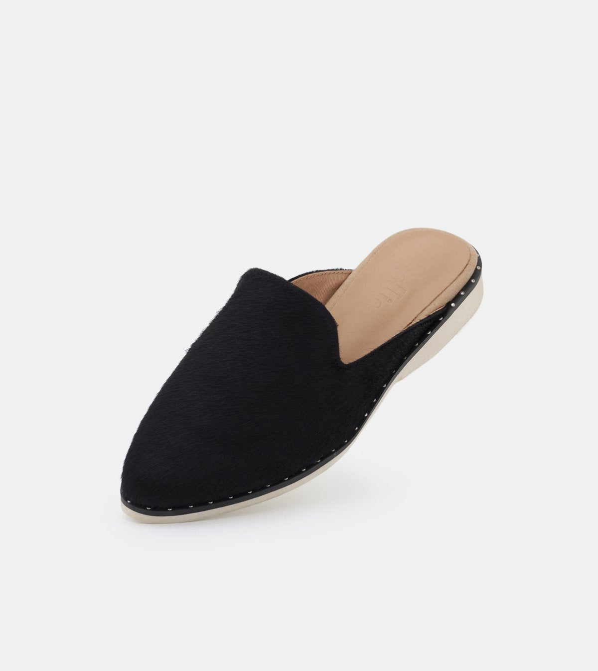 Rollie Madison Mule Stud Black Pony Shoes