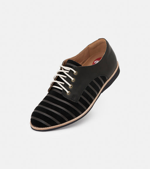 Rollie Derby Black Lines/Black/Black Sole Shoes