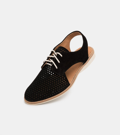 Rollie Slingback Punch Black Nubuck Shoes