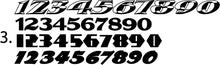 Load image into Gallery viewer, Race Car Numbers - 41 Sets