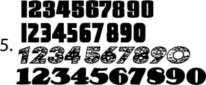 Race Car Numbers - 41 Sets