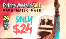 Load image into Gallery viewer, DJ Marshmello Head Battle Royale Fortnite Mask