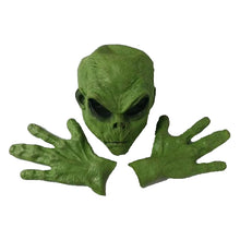 Load image into Gallery viewer, Green Alien Realistic Mask & Hands Set