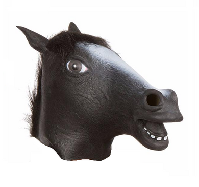 Black Horse Head Party Animal Mask
