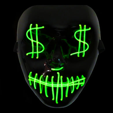 Money Eyes LED Light Up Cash Face Mask