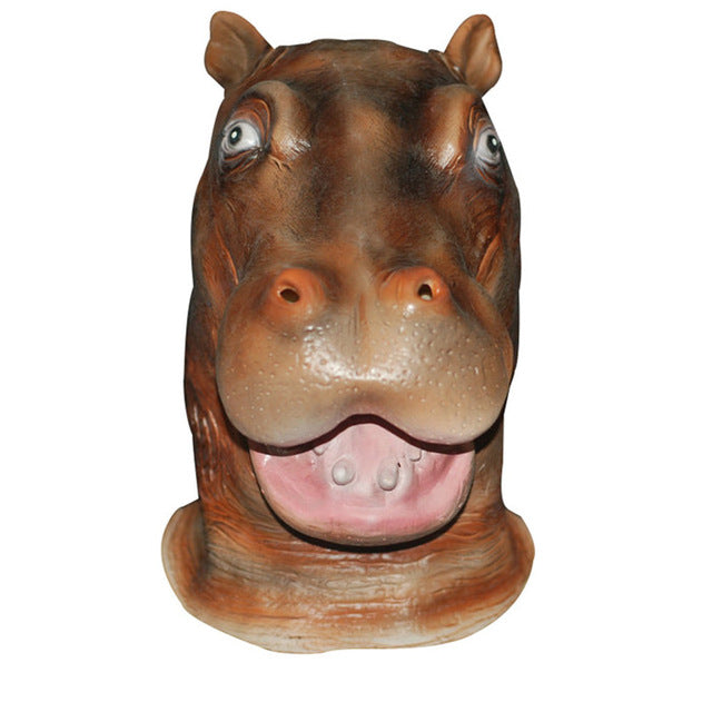 Realistic Hippo Head Animal Mask