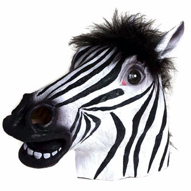 Lovable Zebra Head Striped Animal Mask