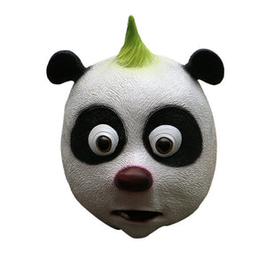 Punk Rock Panda Bear Mohawk Animal Mask