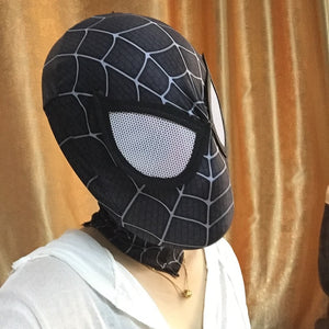 Black Stretchy Realistic Anti-Hero Spiderman Mask