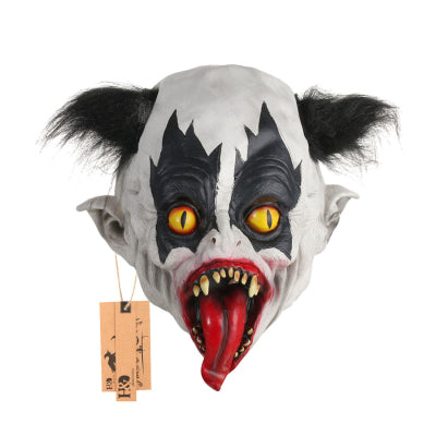 Toothy Long Tongue Demon Clown Mask