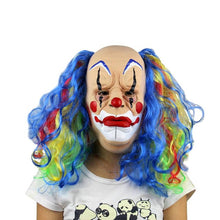 Load image into Gallery viewer, Long Rainbow Hair Classic Style Clown Mask