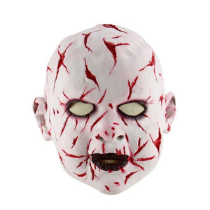 White Demon Baby Bloody Cut Mask