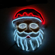 Load image into Gallery viewer, Santa Christmas LED Light Up Mask