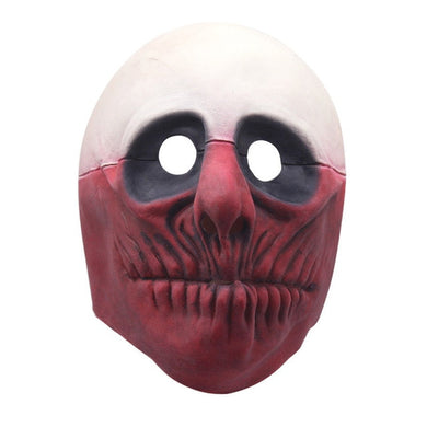 Half Red Half White Unique Mask