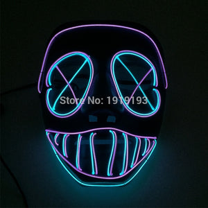 Purge Two Tone LED Light Up Dance Rave Halloween Party Mask