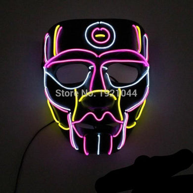 Funky Tribal Festival Rave LED Light Up Mask