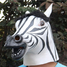 Load image into Gallery viewer, Lovable Zebra Head Striped Animal Mask