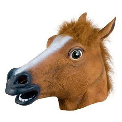 Brown Horse Head Party Animal Mask