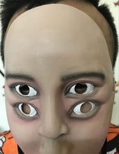 Load image into Gallery viewer, 4 Eyes 2 Noses Freaky Trippy Face Mask