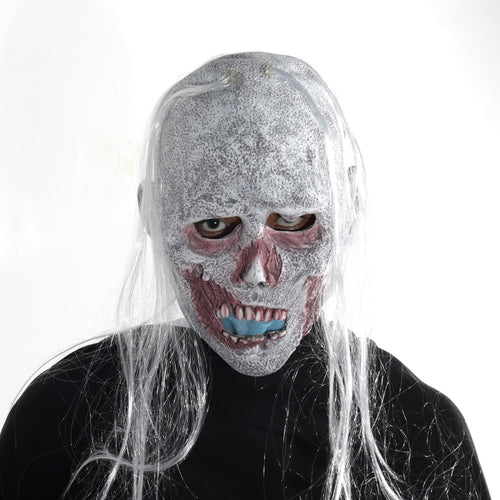 Creepy Decomposing White Zombie Mask