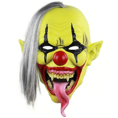 Bright Yellow Creepy Clown Mask