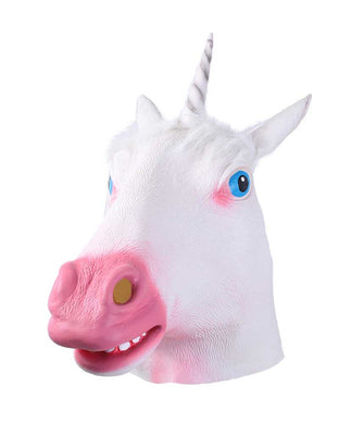 Magic White Unicorn Head Animal Mask