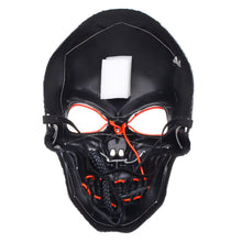 Load image into Gallery viewer, LED Light Up Two Tone Skull Face Mask