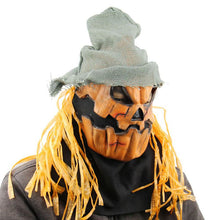 Load image into Gallery viewer, Hipster Pumpkin Head Scarecrow Mask