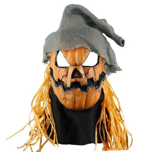 Hipster Pumpkin Head Scarecrow Mask