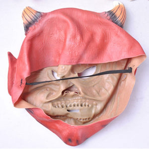 Red Devil Horns Face Mask