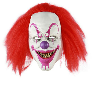 Purple Makeup Smiling Killer Clown Mask