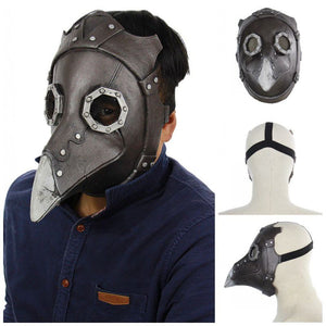 Steampunk Gothic Plague Doctor Leather Mask